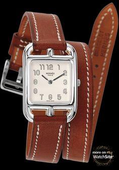 876bb8f1480e Hermès Cape Cod Quartz   Cape Cod 020982WW00 Petit Modèle - Acier - Cadran  Blanc - Bracelet Double Tour
