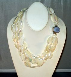Mother of pearl necklace by LataGems on Etsy, $1225.00