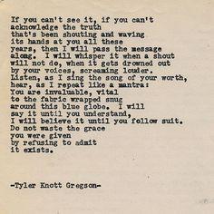 Typewriter Series #1371 by Tyler Knott Gregson __ Come say hello @TylerKnott on Instagram, Facebook, and Twitter! #tylerknott