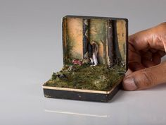 #Miniature | Toronto-based artist Talwst Santiago creates beautiful miniature dioramas housed in reclaimed ring boxes featuring landscapes.