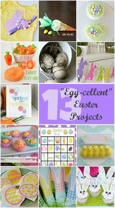"13 ""Egg-Cellent"" Easter Projects at thatswhatchesaid.net  #Easter #eastercrafts #crafting"