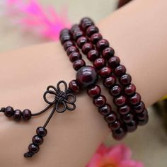 Sale price firm Natural sandalwood Buddha beads 6mm sized natural sandalwood mediation beads bracelet can also be worn as a necklace gorgeous SHERRI SOUZA JEWELRY & BOUTIQUE Jewelry Bracelets