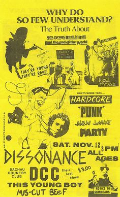 A bunch historic Flint, MI punk rock bands all together on one show, back in the day