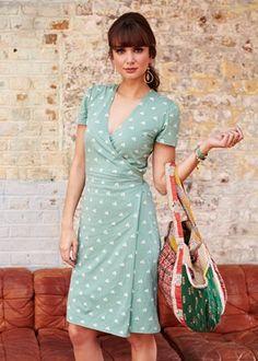People Tree | Lisa Wrap Dress in Bicycle Print