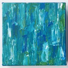 Ocean Deep II, Abstract Acrylic Painting by Andrea Smith