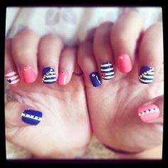 navy blue and pink.