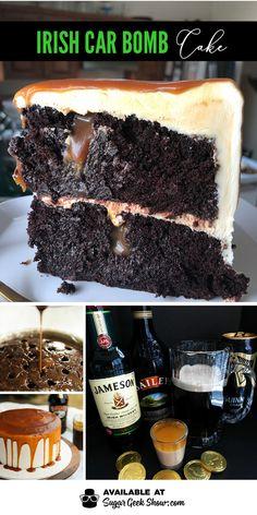 Irish Cream Cake, Baileys Irish Cream, Irish Cake, Sweet Desserts, Just Desserts, Dessert Recipes, Beer Cake Recipes, Baileys Cake, Bomb Cake