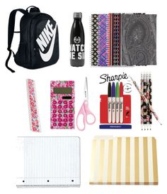 """School supplies"" by vivienneeliza ❤ liked on Polyvore featuring Vera Bradley, NIKE, Sharpie, Lilly Pulitzer, Kate Spade, Flowers of Liberty and Etro"