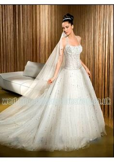 Wedding dress online shop - organza luxurious beaded bodice and a line skirt with sexy sheer back 2011 new sheer wedding dress wd 145 http://www.weddingdressonlineshop.co.uk/