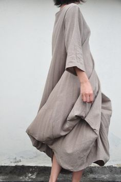 Billowy fabric in a peaceful shade of grey/brown