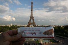 Cinnamon bar soaking in the Eiffel Tower beauty.