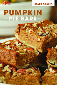 Pumpkin Pie Bar Start your winter baking with Kroger. These Pumpkin Pie Bars are a perfect holiday Treat. Easy Pumpkin Pie, Pumpkin Pie Bars, Baked Pumpkin, Pumpkin Dessert, Pumpkin Recipes, Dessert Simple, Easy Desserts, Dessert Recipes, Tart Recipes
