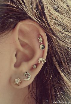 So cute! Ear piercings