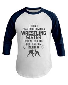 Wrestling Uncle Killin't It Baseball Tee wrestling, wrestlingshirt, FreestyleWrestling, Greco-Roman Wrestling Mom Shirts, Wrestling Quotes, Sister Shirts, Tee Shirts, Tees, Golf Fashion, Sports Shirts, Sport Outfits, Sisters