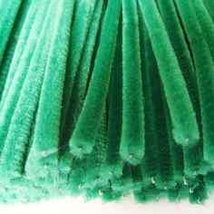 Green pipe cleaners - useful for children to make stems and leaves for spring flowers and mother's day flowers