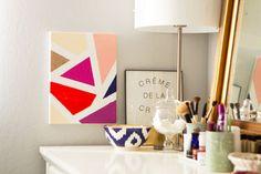 DIY Basics: Make Modern Mosaic Wall Art via Brit + Co.