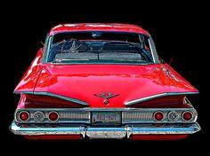 1960 Chevy Impala rear view. By Samuel Sheats - Fine Art America #chevyimpala #cars #chevy