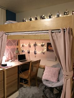 college dorm rooms 40 unordinary apartment living room decorating ideas on a budget 37 Cute Dorm Rooms, College Dorm Rooms, Cool Rooms, Dorm Room Ideas For Girls, Bedroom Ideas For Small Rooms For Girls, Cute Dorm Ideas, Loft Beds For Small Rooms, Dorm Room Desk, College Girls