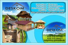 Baner reklamowy domki i mała architektura z drewna