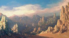 Speedpaint: Desert mountains by inetgrafx.deviantart.com on @deviantART