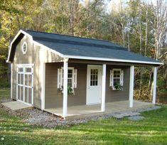 Backyard Barn, Backyard Sheds, Backyard Patio Designs, Outdoor Sheds, Backyard Landscaping, Garden Sheds, Patio Ideas, Craft Shed, Diy Shed