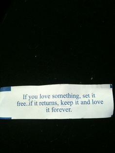 fortune cookie <3 never gonna letchu goo.