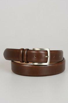 CLAUDIO ORCIANI New Man Brown Leather Medium Width Fashion Belt Size 85 cm   135  fashion bb8f9fa7263
