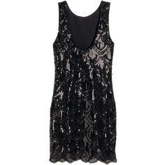 H&M Sequined dress ($38) ❤ liked on Polyvore featuring dresses, fitted dresses, sleeveless cocktail dress, sequin embellished dress, scalloped dress and no sleeve dress