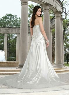 Style 50052 » Wedding Gowns » DaVinci Bridal » Available Colours : Ivory, White (back)