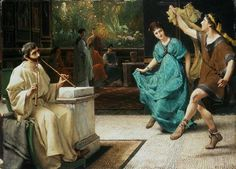 Sir Lawrence Alma-Tadema - Dance in the old Rome.
