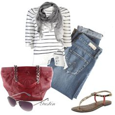 fashion styles, red white blue, outfit, red chanel, closet case, blues, bigger closet, bags, stripe