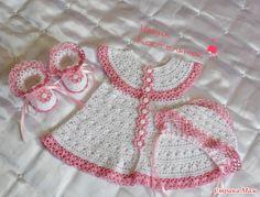 conjunto branco e rosa para bb