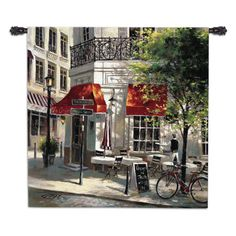 Brent Heighton Premium Thick-Wrap Canvas Wall Art Print entitled The Crepe House Canvas Home, Canvas Wall Art, Wall Art Prints, Canvas Prints, House Canvas, Sidewalk Cafe, Horizontal Wall Art, Cafe Wall, French Cafe