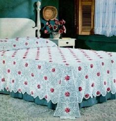 Vintage-Crochet-Pattern-Rose-and-Pineapple-Bedspread-motif-pattern