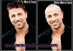 Parecidos con famosos: Rafa Mora foto antes y después