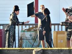 """Lana Parrilla & a Regina double film a scene for episode 6x02 """"A Bitter Draught"""" on July 20, 2016"""