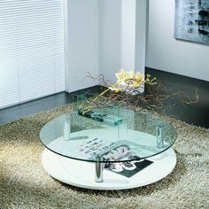 Tavolino disponibile nel modello rotondo od ovale, ideale in salotto nella zona fronte divano o essere posizionato anche in un angolo della zona living