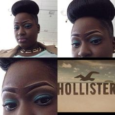 Drawn on Hollister Eyebrows. I don't know which is worse, the eyebrows or the hair......