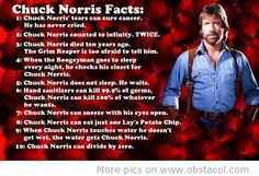 Can't get enough of these.  Love Chuck Norris facts.