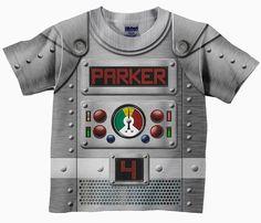 Personalized Robot Shirt Boys Retro Robot by SimplySublimeBaby