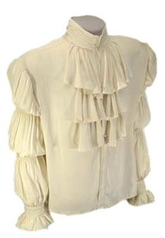 """Both men and women wore a version of the """"puffy shirt""""."""
