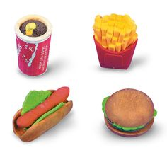 Fast Food Erasers | 24 ct