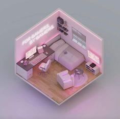 Bedroom Setup, Room Design Bedroom, Girl Bedroom Designs, Room Ideas Bedroom, Gaming Room Setup, Pc Setup, Cute Room Ideas, Kawaii Room, Game Room Design