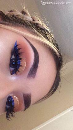 Gorgeous Makeup: Tips and Tricks With Eye Makeup and Eyeshadow – Makeup Design Ideas Makeup Eye Looks, Cute Makeup, Gorgeous Makeup, Glam Makeup, Makeup Inspo, Skin Makeup, Eyeshadow Makeup, Makeup Art, Makeup Ideas