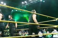 Dean Ambrose getting out of the NXT ring in a rather... unique way [Gif]