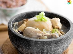 Summer recipe for Korean ginseng chicken soup (samgyetang). It's nourishing and great replenishing the lost fluids during summer.