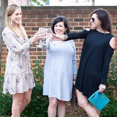Cheers to the weekend, y'all!  Check out my cold shoulder dress from  @shopthemint today on IFT.  While you're there, head to Wednesday's post to enter an awesome giveaway!  #shopthemint