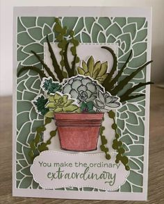 Bloom Where You Are Planted, Birthday Cards For Women, Die Cut Cards, Stamping Up Cards, Cards For Friends, Creative Cards, Flower Cards, Greeting Cards Handmade, Homemade Cards