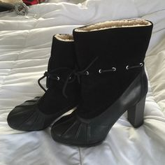 Brand new high heel boots Adiprene by adidas Rockport Shoes Winter & Rain Boots