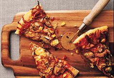 #Pizza au #porc effiloché #barbecue